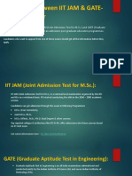 Difference Between IIT JAM & GATE Exam