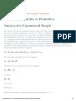 Suavizacion Exponencial Simple - Introducción y bases