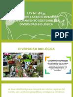 Ley de Conservación y Aprovechamiento Sostenible de La Diversidad Biologica
