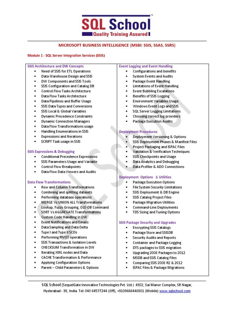 MSBI-Training pdf