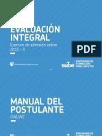 Manual de Evaluación Del Programa de Formación Para Adultos -Sube - 30 de Agosto