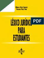 Lexico Juridico Para Estudiantes - Monica Ortiz Sanchez y Virginia Perez Pino