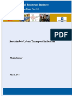 Sustainable Urban Transport Indicators