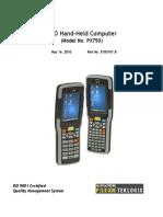 6560.NEO Hand-Held w. Windows CE 5.0 User Manual