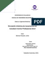 Simulación Dinámica de Mecanismos Con Autodesk Inventor 2014