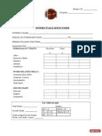 Internship Evaluation Form