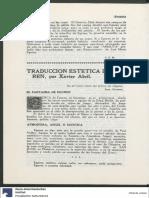 Xavier Abril. Traduccion estetica de Eguren