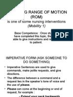 Checking Range of Motion (Rom)