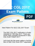 SCC CGL 2017 Exam Pattern