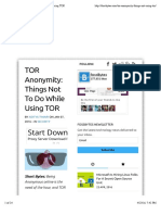 TOR Anonymity