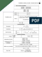 Probabilidad y estadistica - Formulario 2ndo Parcial