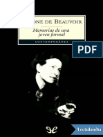 Memorias de Una Joven Formal - Simone de Beauvoir