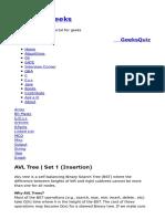AVL Tree _ Set 1 (Insertion) - GeeksforGeeks