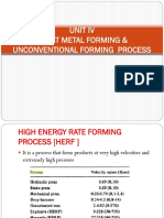 High Energy Rate Forming Process