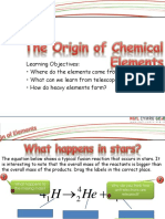 Origin of Chemical Elements