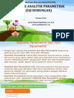 Uji Hubungan (Analitik Parametrik)