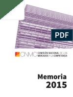 CNMC Memoria 2015