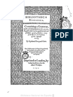 1591 - Bibliotheca hispanica. Containing a grammar with a dictionarie in spanish, english and latine - Richard Percyval - Londres, 1591-cata..pdf