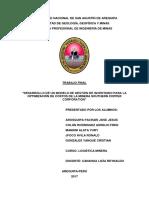 Desarrollo de Un Modelo de Gestión de Inventario Para La Optimización de Costos de La Minera Southern Copper Corporation