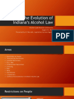 Evolution of Indiana's Alcohol Law