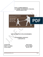 Engg Geology Lab Manual