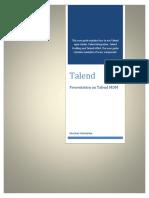 Presentation on Talend MDM By Bhushan Maindarkar