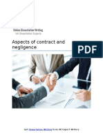 Aspects of contract and negligence
