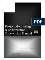 Project Monitoring & Construction Supervision Manual - Jan2013