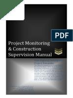 Project Monitoring & Construction Supervision Manual - Jan2013