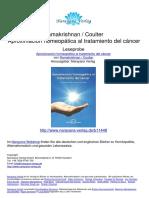 Aproximación homeopática al tratamiento del cáncer - Dr. A. U. Ramakrishnan