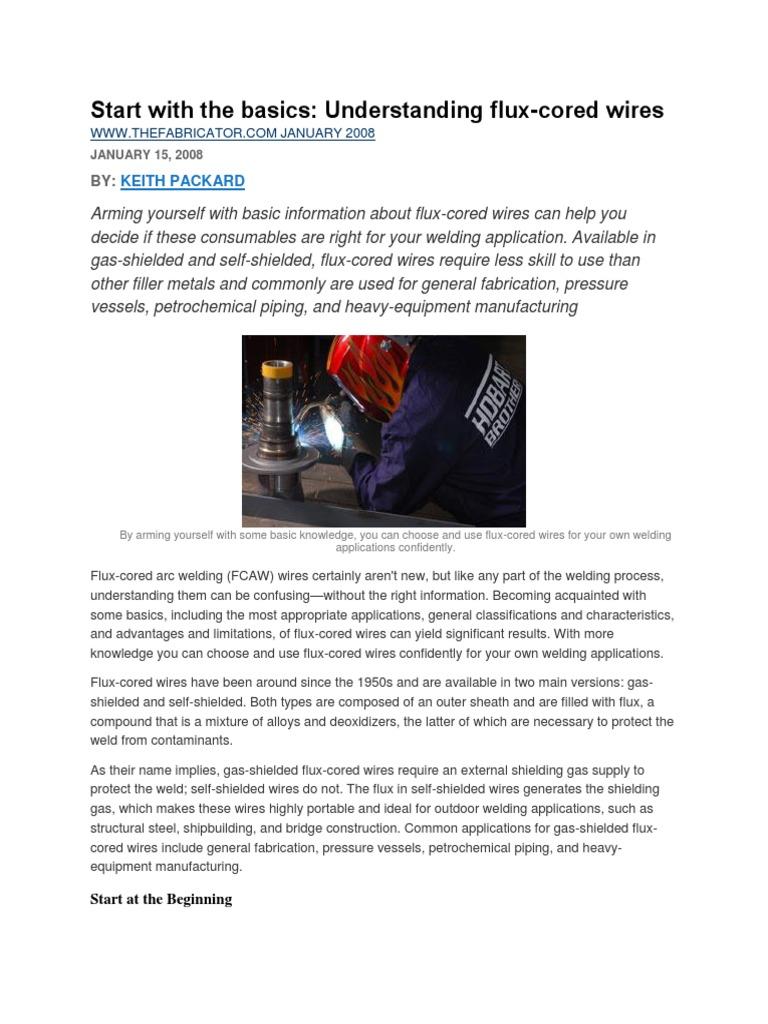 Basic Understanding of FCAW | Welding | Wire