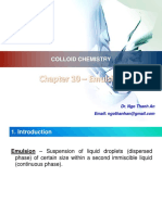 Colloid Chemistry - Chapter 10