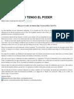 Ministério Bullón8 23 2017 Yotengo El Poder