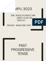 Past Progressive Tense 1