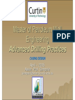 Advanced Drilling Practices - Casing Design