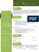Cv Resume Word Template 906