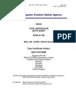 TCDS_EASA.A.182_BAe_146_Avro_146RJ_Iss_03_20150115