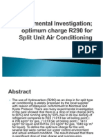 Experimental Investigation OPTIMUM Charge R290