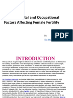 Environmental and Occupational Factors Affecting Female Fertility