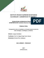 Diferencias Gramaticales Entre El Guarani y El Castellano
