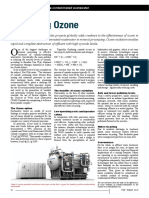 Ozone oxidation of cyanide-contaminated wastewater