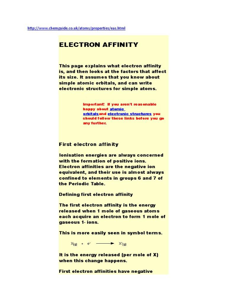 Electron affinity ion periodic table urtaz Images