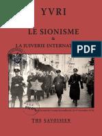 Yvri - Le Sionisme Et La Juiverie Internationale