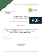 Proyeco de Investigación - Potencial Hidroeléctrico en La Presa de Derivación Constitución 1857