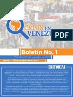 Boletín 1 - Crisis en Venezuela