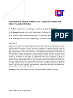 Finite Element Analysis of Slab and a Comparative Study With Other Solutions