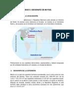 Unidad II Geografía de Mi Estado.