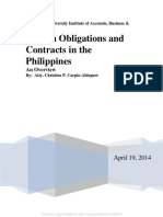 Law on Obligations and Contracts in The Philippines