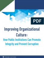 Improving Organizational Culture
