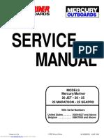 Mercury 20 25 Marathon Seapro Service Manual